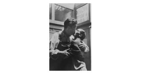 <i>Frida and Diego Caught Kissing,</i> 1933, Lucienne Bloch, offered by PDNB
