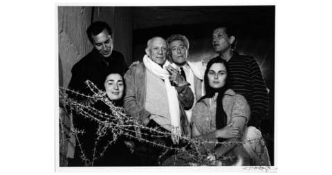 <i>Picasso with Friends and Family 1955,</i> 1959, by Lucien Clergue, offered by Phyllis Lucas Gallery