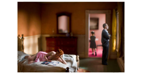 <i>Pink Bedroom (Family),</i> 2013, Richard Tuschman, offered by Photo-Eye Gallery