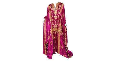 Silk caftan with metal embroidery, 20th century, offered by Morphew