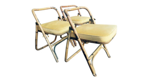 Set of chairs attributed to Adrien Audoux and Frida Minet, ca. 1960, offered by L'Atelier 55