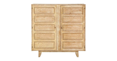 Jean Royère Deco cerused-oak cabinet, 1940s, offered by This Place