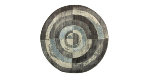 Circular braque rug, new, offered by Doris Leslie Blau LLC