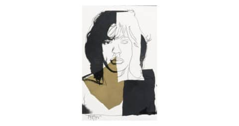 <i>Mick Jagger 146</i>, 1975, by Andy Warhol, offered by Revolver Gallery
