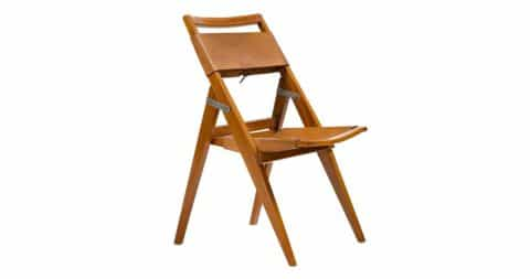 Lina Bo Bardi folding chair, 1950s, offered by R & Company