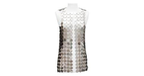 Paco Rabanne Disc dress, offered by Les Merveilles de Babellou