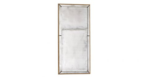 Double-beveled glass-bordered gilt frame with two-part mirror, 2010