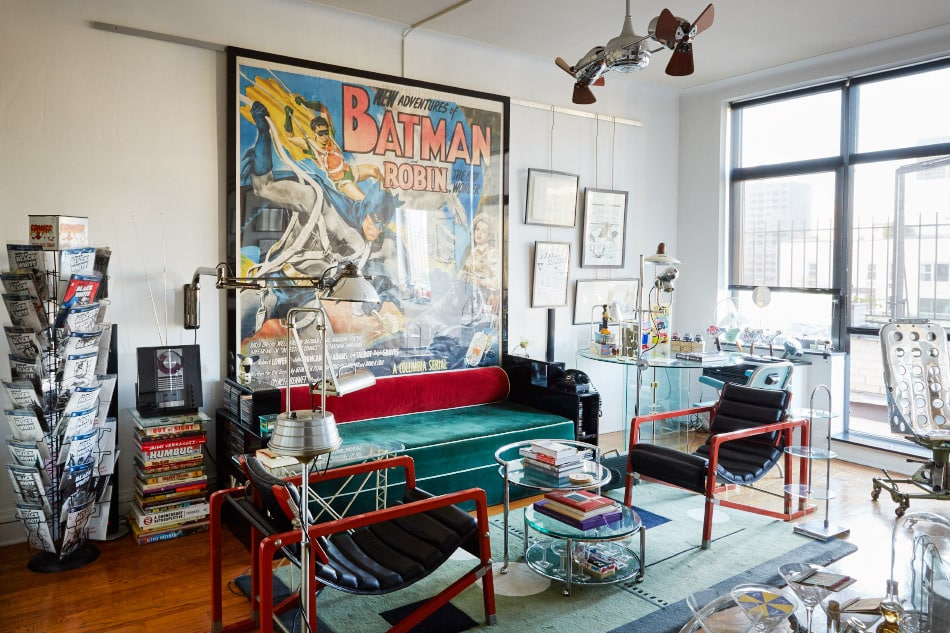 Famed Graphic Designer and Obsessive Collector Chip Kidd Lives with Superheroes