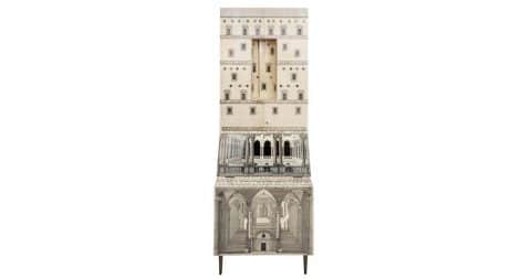 Piero Fornasetti Trumeau Architettura cabinet, ca.1959, offered by Holly Johnson Antiques & Interior Design