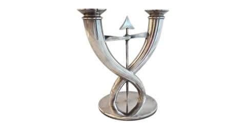 Giò Ponti for Christofle Flèche candelabra, designed 1930s, produced 1980s, offered by David Bell