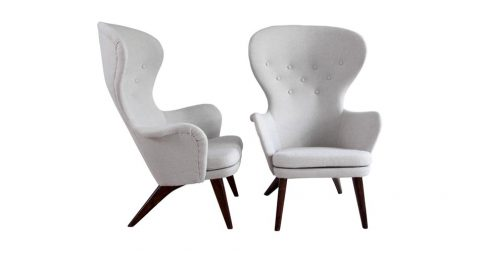 Carl-Gustav Hiort af Ornäs armchairs, 1950s, offered by Gallery Wernberg