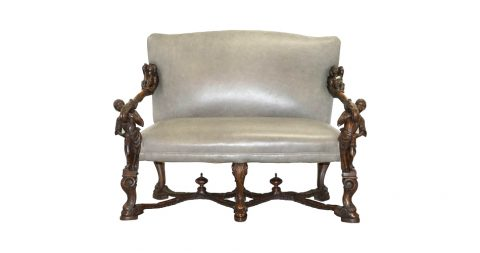 Valentino Besarel bench or settee, 1850, offered by Wimbledon Furniture