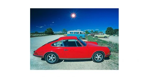 <i>Red Porche</i>, 1975, by Mitchell Funk, offered by Robert Funk Fine Art