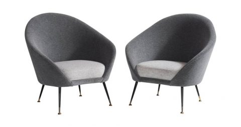 Italian armchairs, 1950, offered by Obsolete