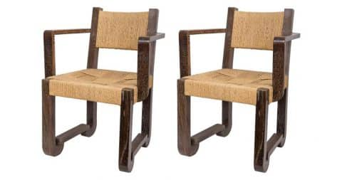 French armchairs, 20th century, offered by Robert Stilin