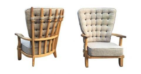 Guillerme et Chambron for Votre Maison armchairs, 1970, offered by FCK Paris New York