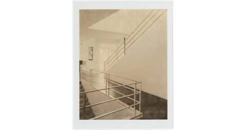 <i>Brill House Staircase,</i> undated, by François Dischinger, offered by Hostler Burrows