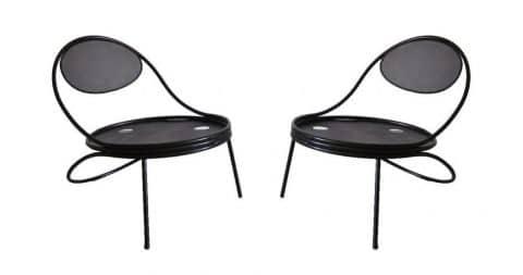 Mathieu Matégot Copacabana chairs, ca. 1950, offered by Thomas Gallery Ltd