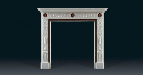 Neoclassical fireplace in the style of Robert Adam, 1770s