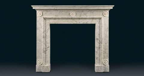 John Soane–style fireplace, late 18th century