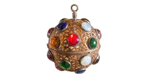 Moroccan globe light, 1940s, offered by Ellen Ward Scarborough Antiques
