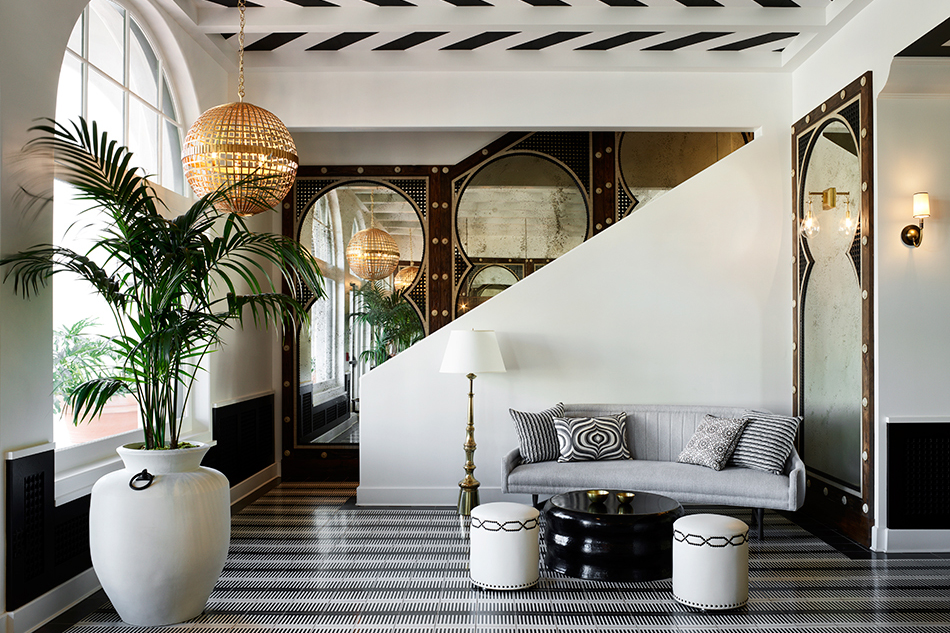 Designer Martyn Lawrence Bullard Hotel Californian Santa Barbara California lobby