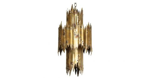 Tom Greene chandelier, 1970s, offered by Quotient