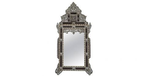 Mirror with mother-of-pearl inlay, 1800, Mosaik