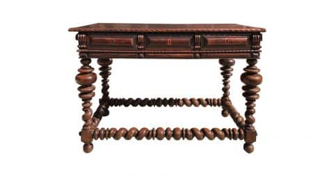 Library center table, 1750, offered by Revival