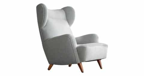 Giò Ponti–style lounge chair, 1950s, offered by JenMod Vintage