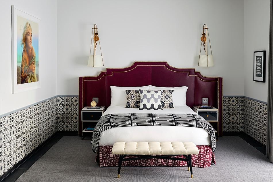 Designer Martyn Lawrence Bullard Hotel Californian Santa Barbara California bedroom guest room