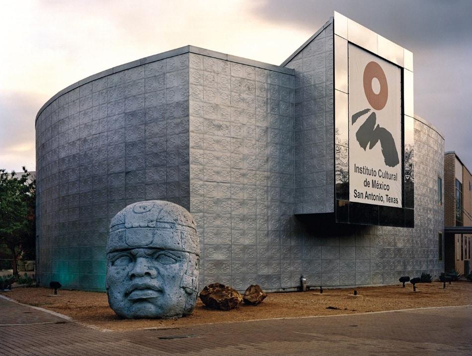 "Jade Doskow, San Antonio 1968 World's Fair, ""The Confluence of Civilizations in the Americas,""Instituto Cultural De México with Olmec Head, 2013"
