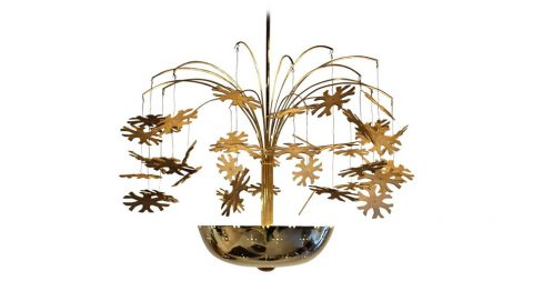 Paavo Tynell Snowflake chandelier, ca. 1954, offered by 20CDesign