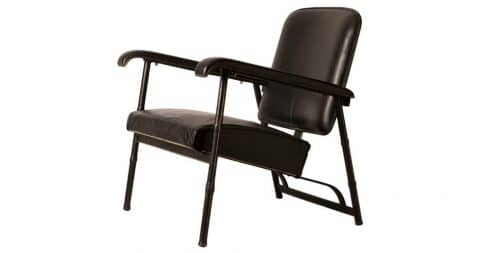 Jacques Adnet lounge chair, ca. 1950, offered by Paris Underground