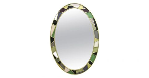 Modernist oval mirror, 1970s, offered by Cosulich Interiors & Antiques