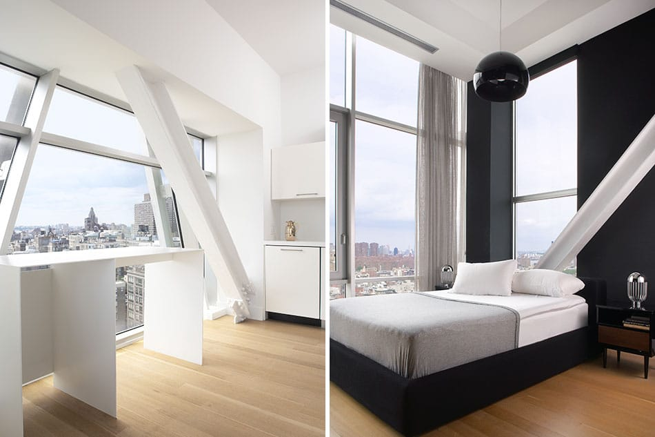 A bedroom with a view of the city by Magdalena Keck