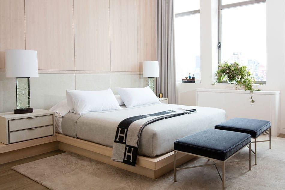 A Radziner designed bedroom in Chelsea