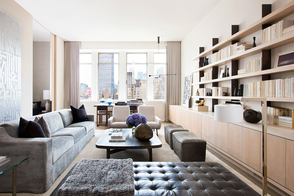 A living space designed by Marmol Radziner