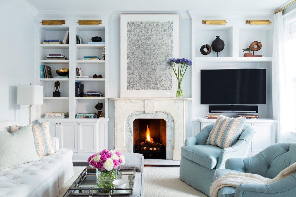Park Slope living room by Chango & Co.