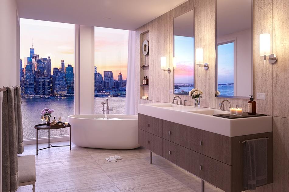 A Marmol Radziner bathroom located in Quay Tower