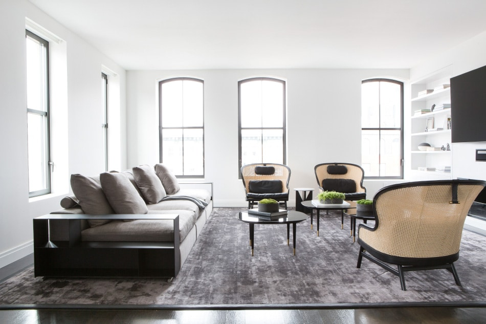 Tribeca living room by Chango & Co.