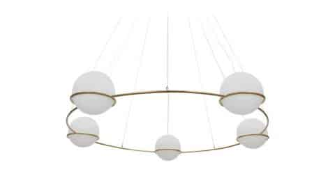 Ceiling lamp in the style of Gino Sarfatti, 1969, offered by Frank Landau