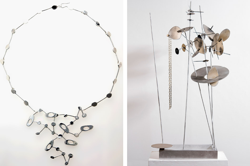 Constellation necklace and Creature #1 by Carolina Sardi
