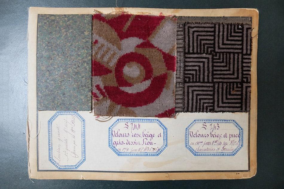 René Prou flooring and textile samples