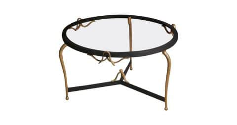 Gilt iron coffee table, ca. 1940, offered by Calderwood Gallery