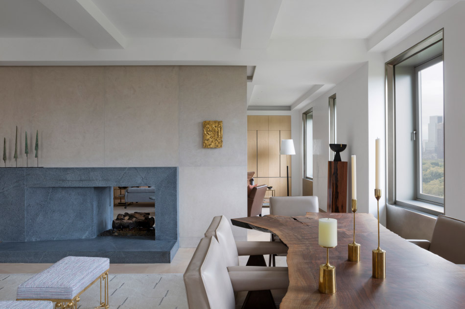 A lounge space, featuring a fireplace, by Bryan O'Sullivan