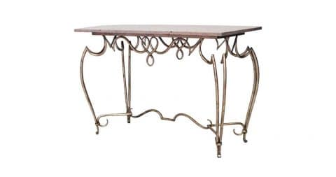 Scroll form center table, 1940s, offered by Newel