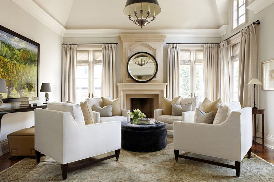 Toronto living room by Julie Charbonneau Design