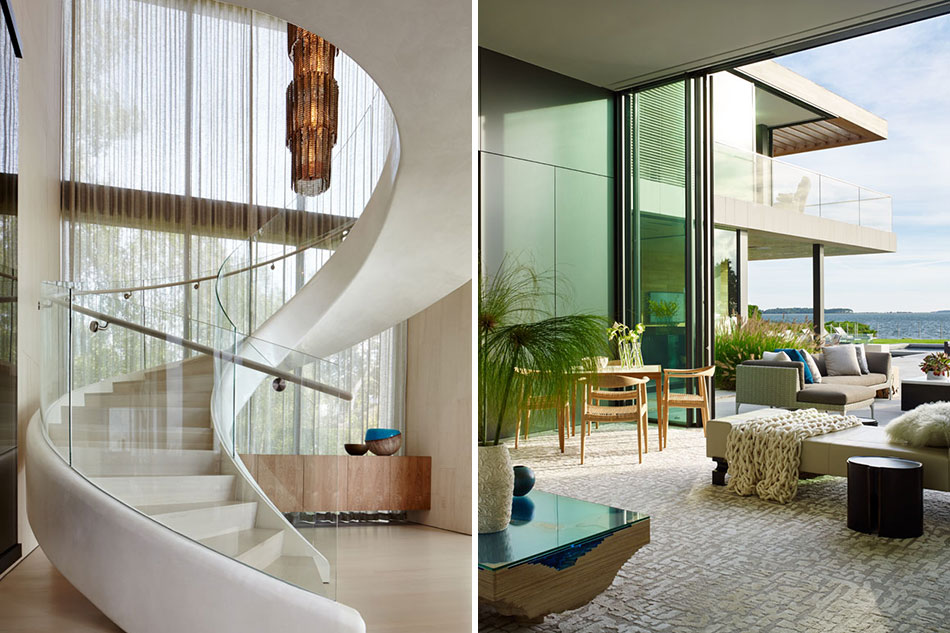 Staircase and living room by Blaze Makoid