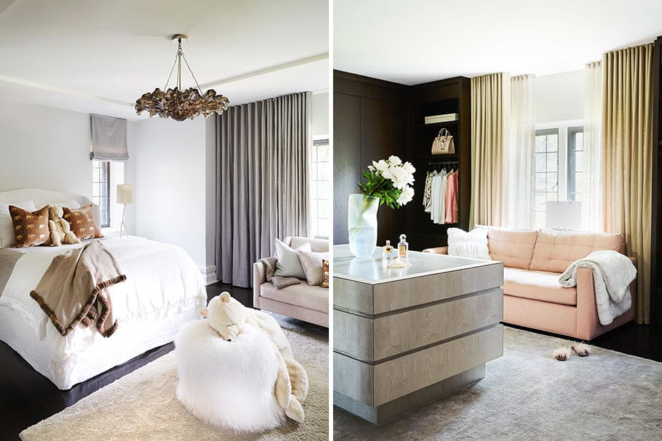 Bedroom and dressing room by Julie Charbonneau Design